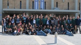 Hannaton mechina and NOAM students in their year of service together at the Knesset