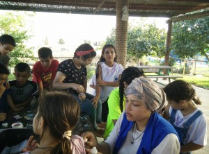 Children from Bir El Maksur at Hannaton