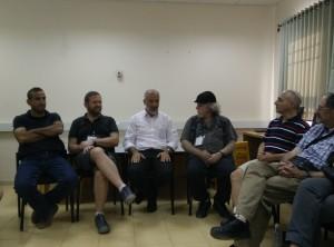 Rabbis and Imam Zaidan meeting in Kfar Manda